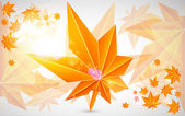 Autumn background with bright light — Stock Vector