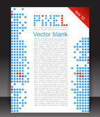 Abstract blank. Pixel art. — Stock Vector