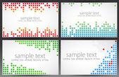 Set of cards. Pixel art. — Stock Vector