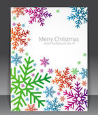 Abstract christmas blank with the coloured snowflakes — Stock Vector