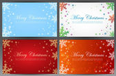 Christmas cards — Stock Vector