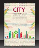 抽象的な背景。市のテーマ. — ストックベクタ