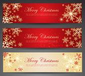 Winter thema web banners. — Stockvector