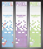Web banners. Pixel art. Vector — Stock Vector