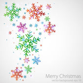 Abstract Christmas background. Color snowflakes on a grey background. — Stock Vector