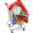 Last-minute-Weihnachts-shopping — Stockfoto