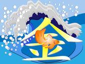 GoldenFish — Stock Vector