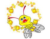 Flying bee — Stock Vector