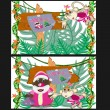 Christmas in jungles — Stock Vector #7020796