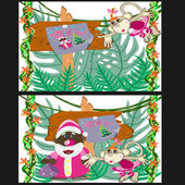 Christmas in the jungles — Stock Vector