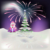 New Year at the North Pole — Vector de stock