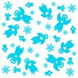 Christmas-pattern — Stock Vector