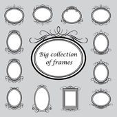 Big-collection-of-frames — Stock Vector