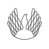 Dove-of-peace — Stock Vector