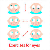 Exercises-for-eyes — Stock Vector