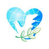 Love-dove-peace — Stock Vector