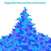 New-year-christmas — Vector de stock
