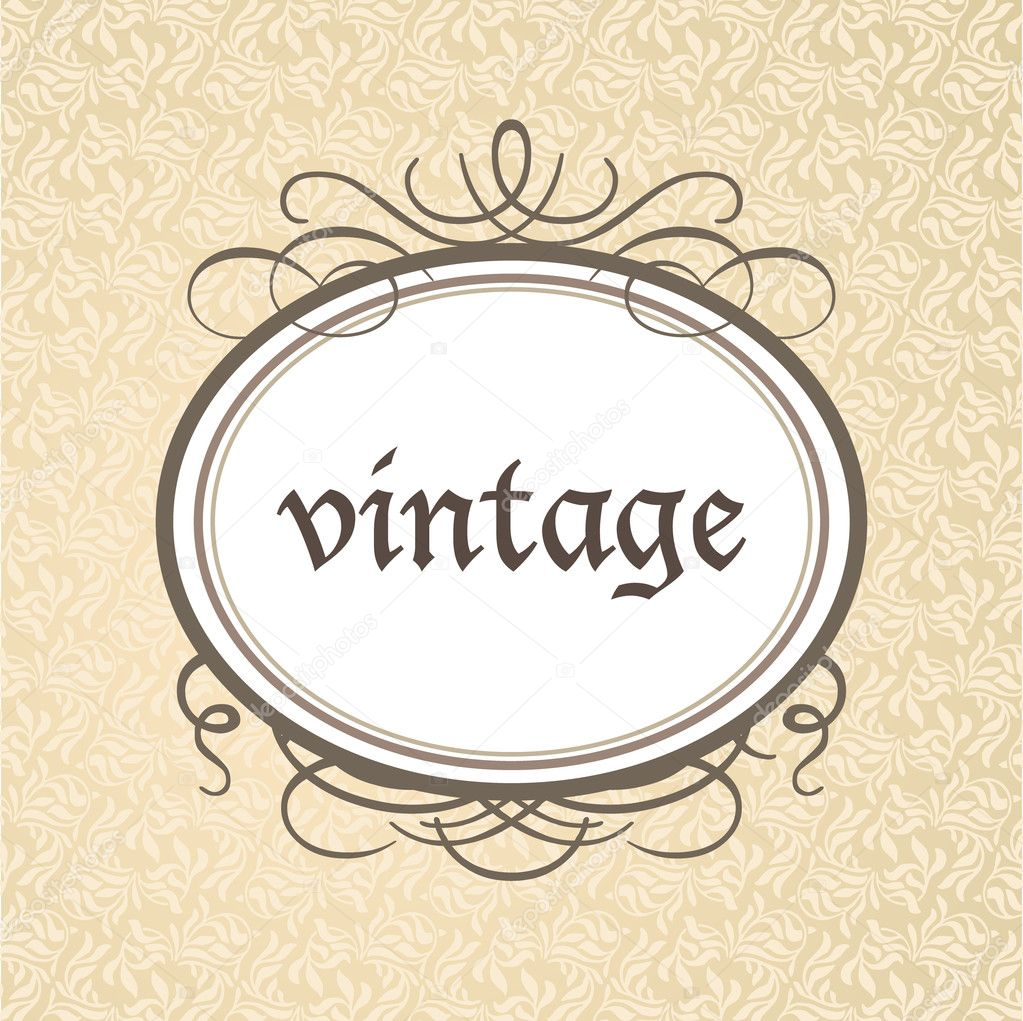 Template framework - a luxurious vintage style. Vector. — Stock Vector #7728857