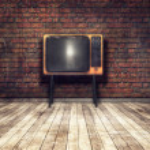 Old TV in room — Stock Photo