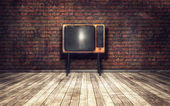 Old TV in room — Stock Photo