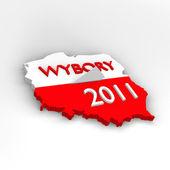 Mapa polski - polska - wybory 2011 - głosowanie — Stock Photo
