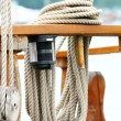 Stock Photo: Rope on deck