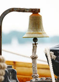 Bell on sailing ship — Stock Photo
