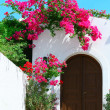 Stock Photo: Door in Lindos - island Rhodes, Greece
