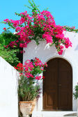 Door in Lindos - island Rhodes, Greece — Stock Photo