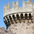 Stock Photo: Tower in Rhodes castle - side view, Greece