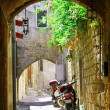 Stock Photo: Inside old (medieval) town of Rhodes (City of Knights)