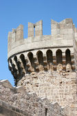 Tower in Rhodes castle - side view, Greece — Stock Photo