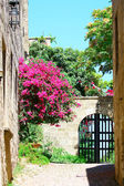 Medieval street in Old city of Rhodes island. Greece — Stock Photo