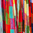 Stock Photo: Colorful scarfs on market