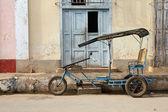 Cuba fiets taxi — Stockfoto