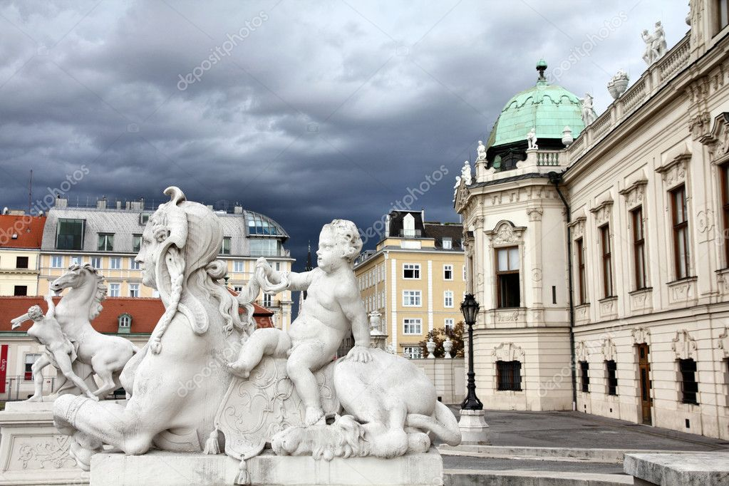 Vienna, Austria - Belvedere Palace building. The Old Town is a UNESCO World Heritage Site. — Stock Photo #7113051