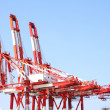 Stock Photo: Port Cargo Cranes