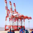 Port Cargo Cranes — Stock Photo