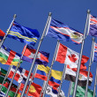 Canada and British Commonwealth and national flags all over the world — Stock Photo #7696647