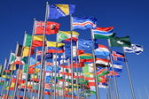 The national flags all over the world — Stock Photo