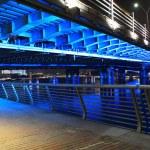 Blue lighting Bridge — Stock Photo