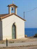 入,希腊传统小教堂 — 图库照片