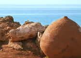 Cyprus marine landscape with the historic pot — Stock Photo