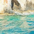 Blue caves of Zante, Greece — Stock Photo
