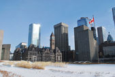 Toronto City centre in the winter time — Stock Photo