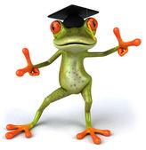 Frog student — Stock Photo