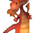 Red dragon — Stock Photo