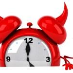 Evil Alarm clock — Stock Photo