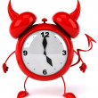 Evil Alarm clock — Stock Photo #6877651