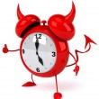 Evil Alarm clock — Stock Photo #6877652